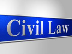 civil law meaning attorney lawfulness and legislation - stock illustration