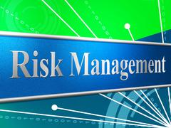 management risk showing company peril and dangerous - stock illustration