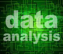 Stock Illustration of data analysis representing analyse analytics and analyzing