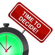 Stock Illustration of time to decide showing choice option and decisions
