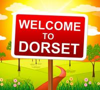 Welcome to dorset meaning united kingdom and english Stock Illustration