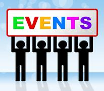 event events meaning occasions affairs and ceremony - stock illustration