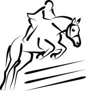 Equestrian sport Stock Illustration