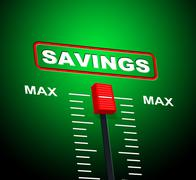 max savings representing upper limit and wealth - stock illustration