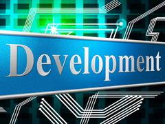 develop development representing forming success and advance - stock illustration