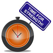 Stock Illustration of time for strength meaning vigour muscle and strengthen