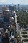 Street and Alameda Central, Distrito Federal, Mexico City, Mexico - stock photo