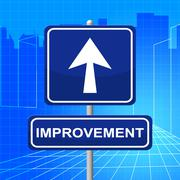 improvement sign meaning upgraded growth and evolve - stock illustration