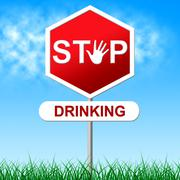 Stop drinking meaning the demon rum and drunk Stock Illustration