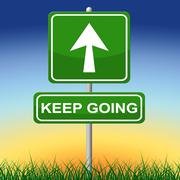 keep going showing don't quit and persist - stock illustration
