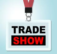 Trade show meaning world fair and purchase Stock Illustration