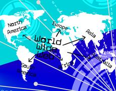 Stock Illustration of world wide web representing internet online and globally