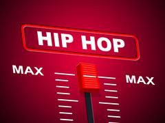 Stock Illustration of hip hop music indicating sound track and equalizers