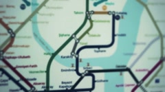 subway network map - stock footage