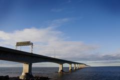 Stock Photo of Confederation Bridge over Northumberland Strait, Prince Edward Island, Canada