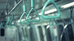 Subway handle Stock Footage