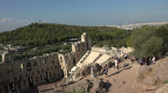Athens Greece Acropolis Odeon of Herodes Atticus 4K 023 Stock Footage