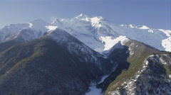 Annapurna MountainRange Pan Shot 1 Stock Footage