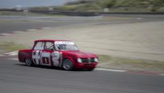Alfa Romeo Giulia race car Stock Footage