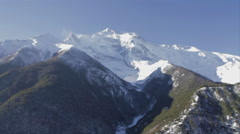 Annapurna Mountain Range Pan Shot 2 Stock Footage