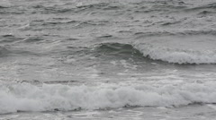 Storm winds making waves on the Baltic Sea - stock footage