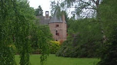 Tower 15th-century castle on the estate of Het Loo Palace  + pan gardens Stock Footage