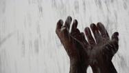 Stock Video Footage of 4K Hands Welcome Heavenly Rain