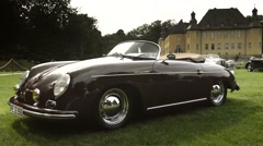 Porsche 356 Speedster classic sports car Stock Footage