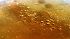 Beer bubbles background Stock Footage