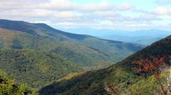 Endless early autumn mountain range 1 Stock Footage