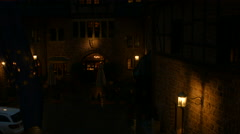 Wartburg inner courtyard at night Stock Footage