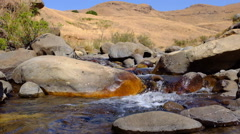 River rapids at Lotheni in the South African Drakensburg mountains Stock Footage
