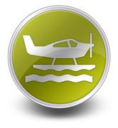 Icon, button, pictogram seaplane Stock Illustration