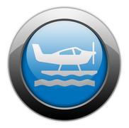 Icon, button, pictogram seaplane Stock Illustration