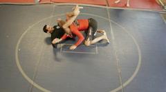 Brazilian jiu jitsu, leg choke Stock Footage