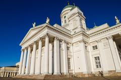 helsinki cathedral or st nicholas - the biggest landmark of the city built in - stock photo