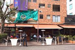 Coffee bar on plaza foch in quito, ecuador Kuvituskuvat