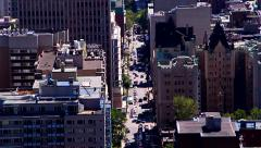 Skyline and city street Stock Footage