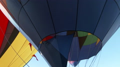 Hot Air Balloons In Flight Stock Footage