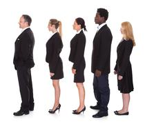 multi-racial group of business people - stock photo