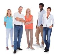 Multi-racial group of people Stock Photos