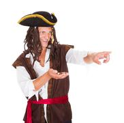 Portrait of a pirate Stock Photos