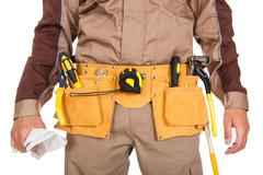 Toolbelt of a worker Stock Photos