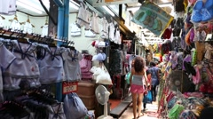 The famous Chatuchak Market in Bangkok, Thailand Stock Footage