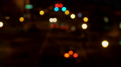Wide Street Shot Out of Focus Stock Footage