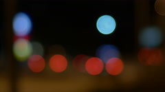 Out of Focus Road at Night Stock Footage