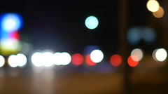 Out of Focus Traffic at Night 4K Stock Footage