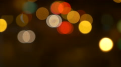 Out of Focus Traffic Bokeh at Night 4K Stock Footage