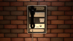 Close-up Of An Emergency Telephone help SOS 911 safety Stock Footage