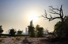 Silhouetted Skyline, Dubai, United Arab Emirates Kuvituskuvat